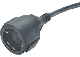 JF-03Z VDE IP20 Socket 16A 250V Extension Cord